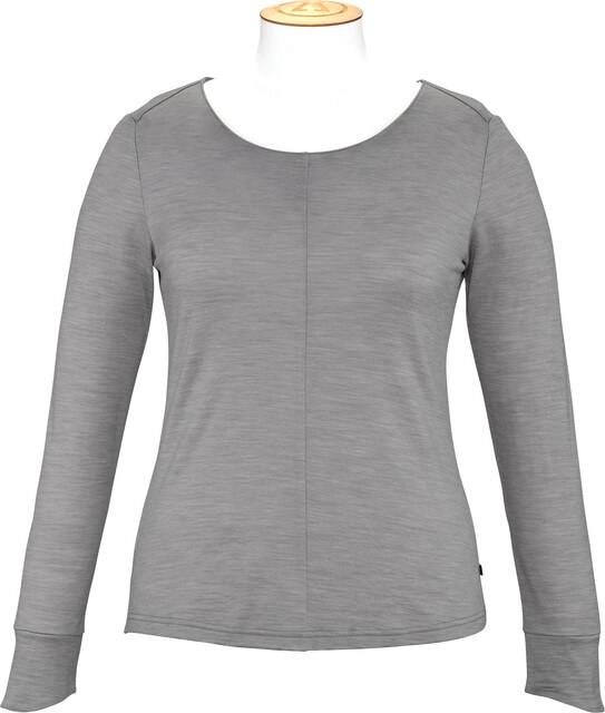 Alchemy Equipment Merino Essential Langærmet T shirt Damer, grey marle